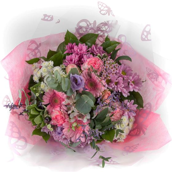 Pink Tied Bunch All About Flowers Florist Swindon