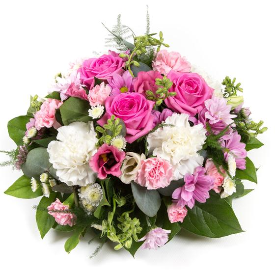 Pink & Cream Posy Arrangement All About Flowers Florist